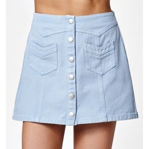 Pacsun Kendall & Kylie button down denim skirt